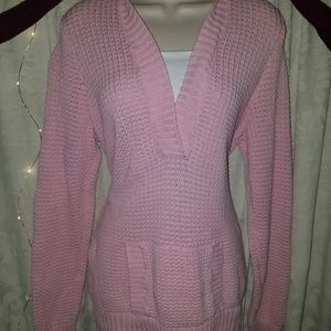 Essentials Pink Sweater with Hoodie XL